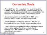 committee goals
