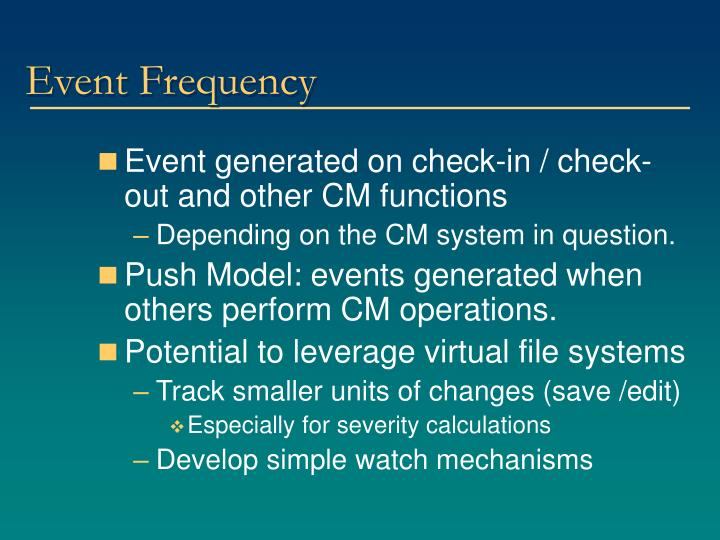 Event Frequency