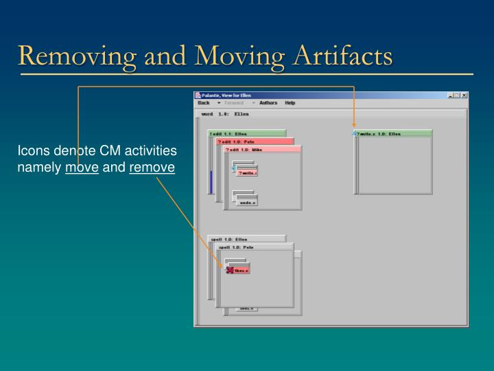 Removing and Moving Artifacts