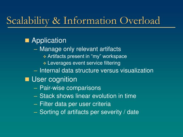 Scalability & Information Overload