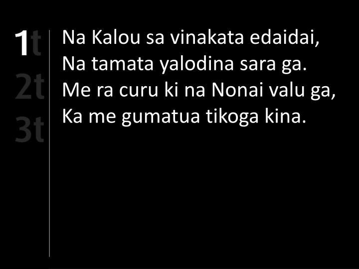 Na Kalou sa vinakata edaidai,