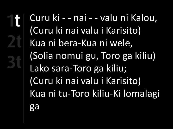 Curu ki - - nai - - valu ni Kalou,