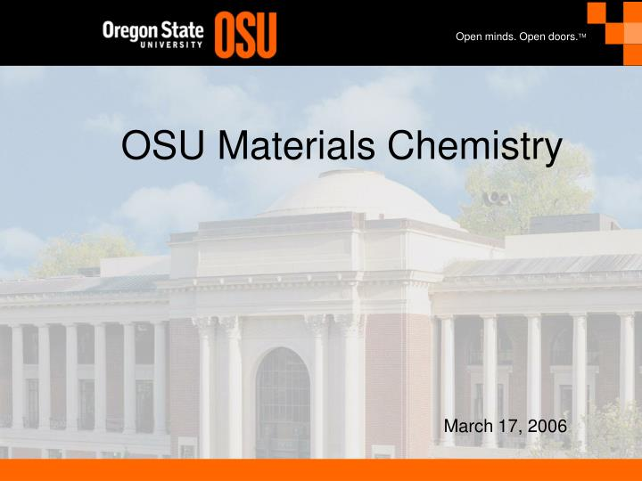 Osu materials chemistry