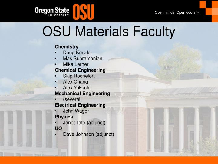 Osu materials faculty