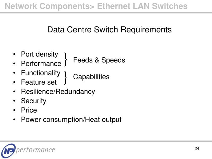Network Components> Ethernet LAN Switches