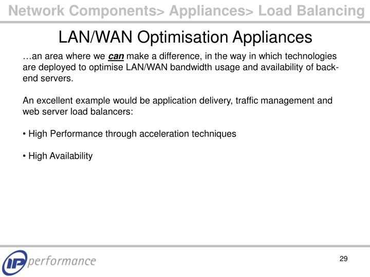 Network Components> Appliances> Load Balancing