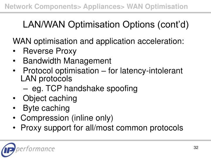 Network Components> Appliances> WAN Optimisation