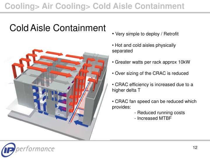 Cooling> Air Cooling> Cold Aisle Containment