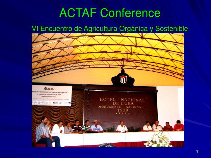 ACTAF Conference
