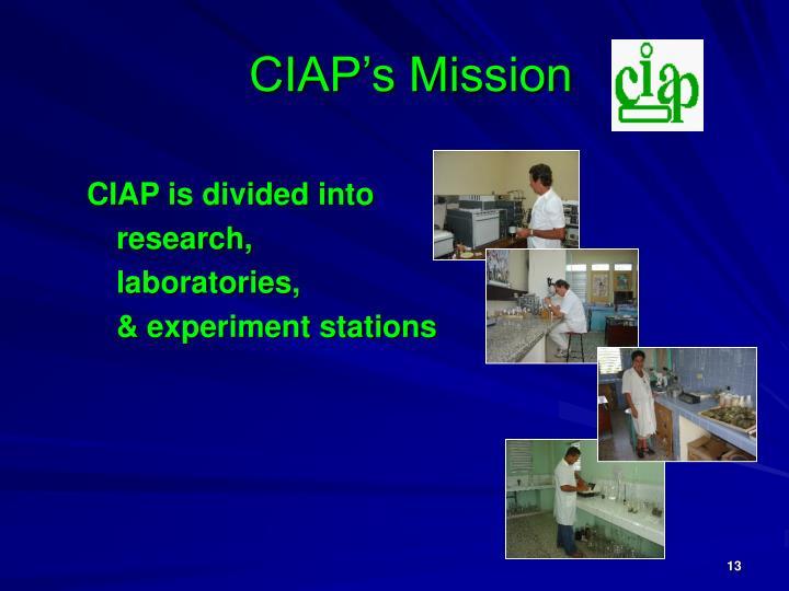CIAP's Mission