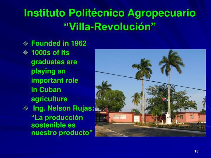 """Instituto Politécnico Agropecuario """"Villa-Revolución"""""""