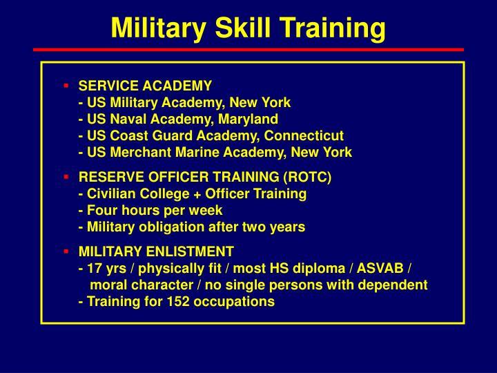 Military Skill Training