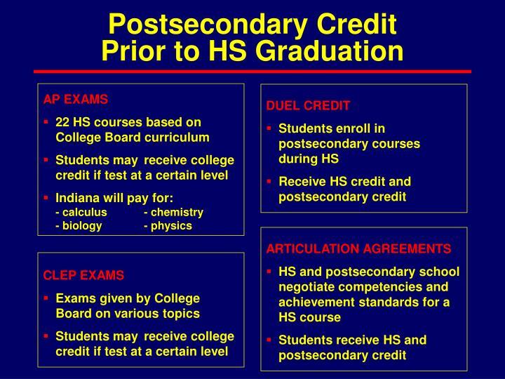 Postsecondary Credit