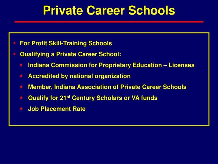 Private Career Schools