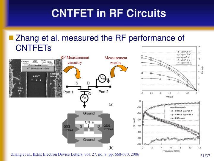CNTFET in RF Circuits