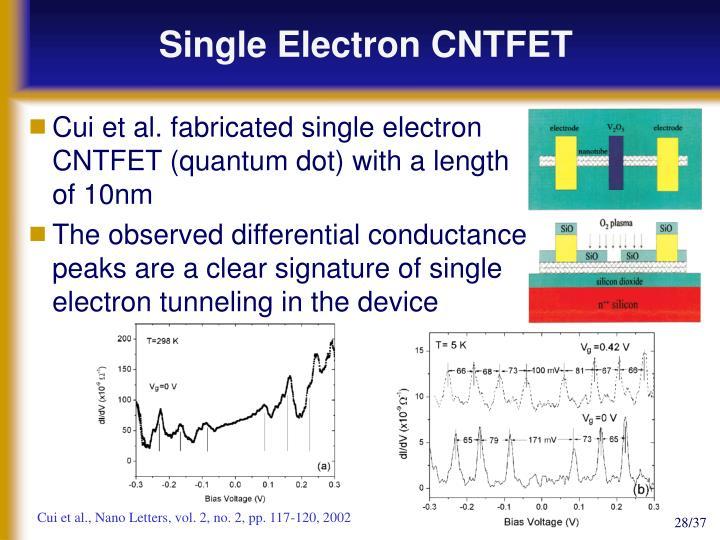 Single Electron CNTFET