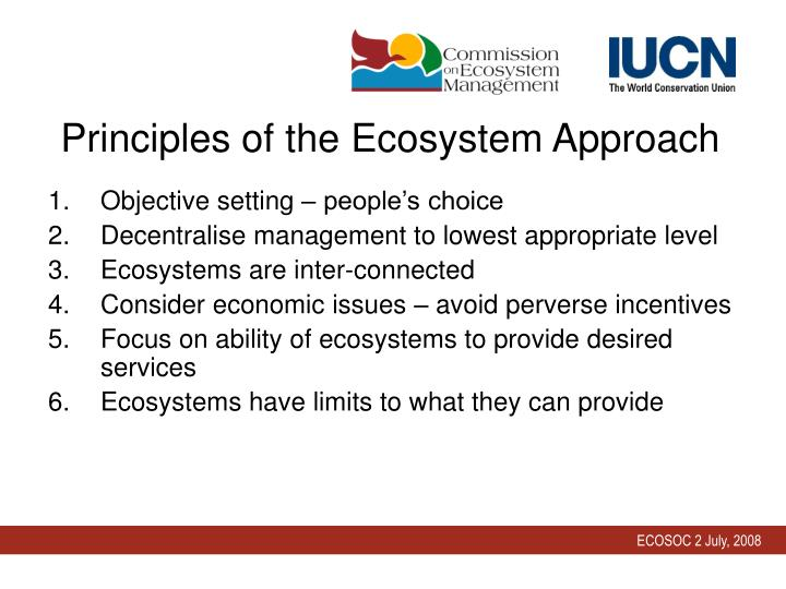 Principles of the Ecosystem Approach