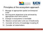 principles of the ecosystem approach1
