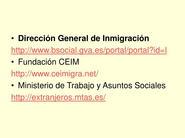 Dirección General de Inmigración