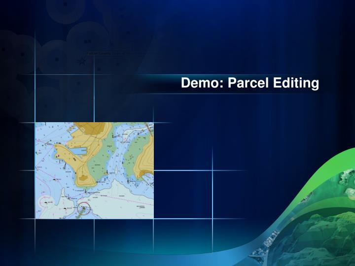 Demo: Parcel Editing