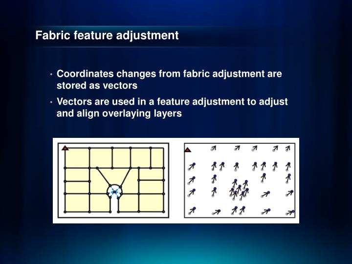 Fabric feature adjustment