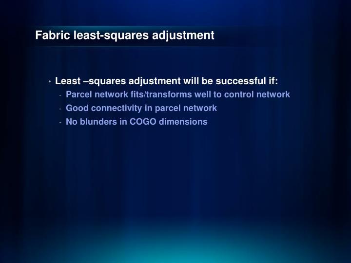 Fabric least-squares adjustment