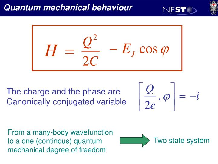 Quantum mechanical behaviour