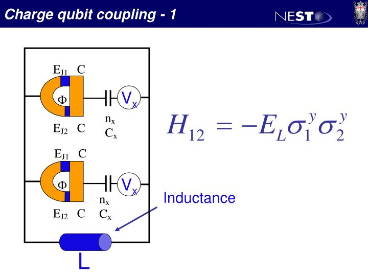 Charge qubit coupling - 1