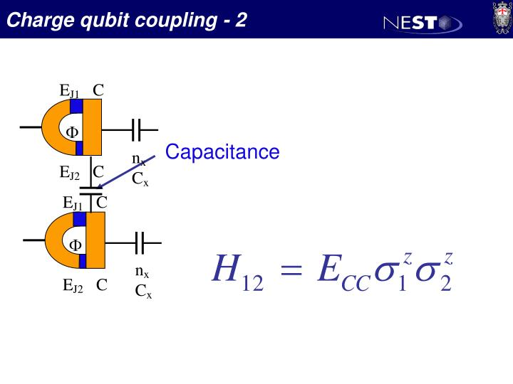 Charge qubit coupling - 2