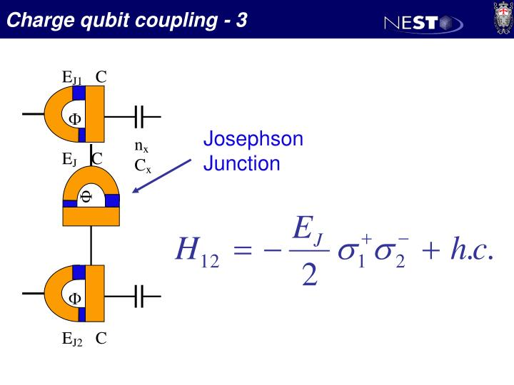 Charge qubit coupling - 3