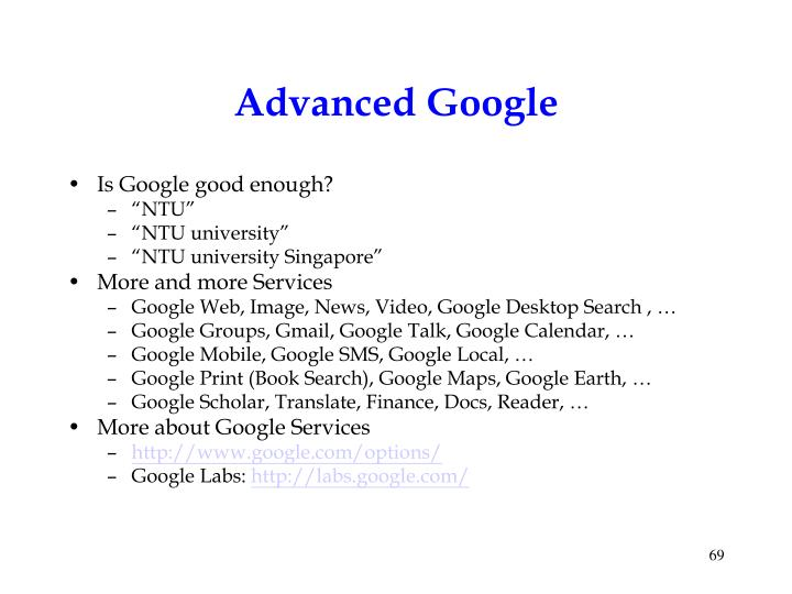 Advanced Google