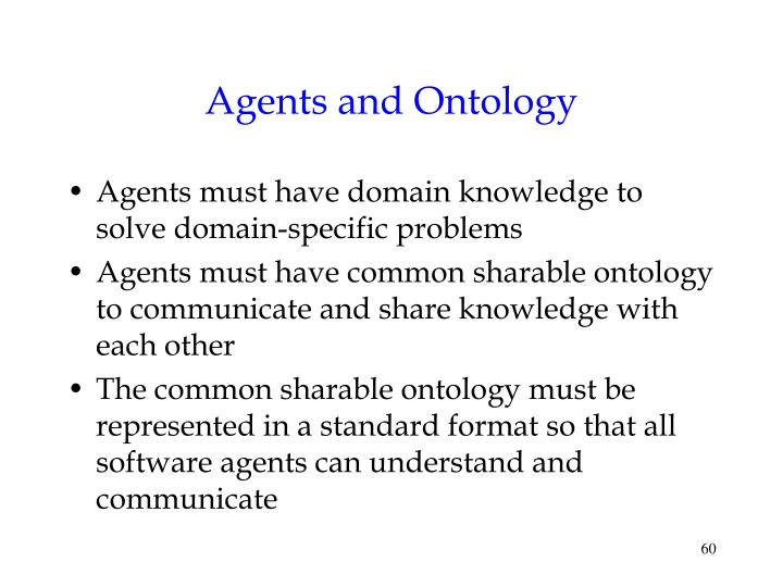 Agents and Ontology