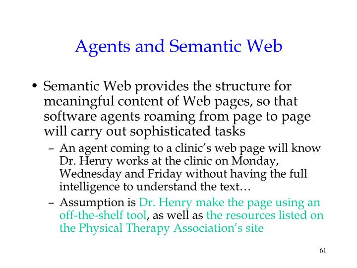 Agents and Semantic Web