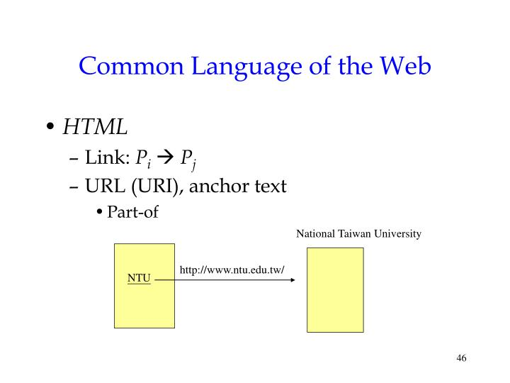 Common Language of the Web