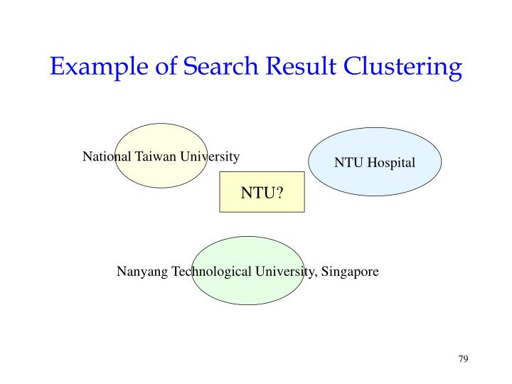 Example of Search Result Clustering