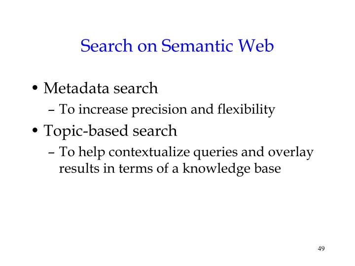 Search on Semantic Web