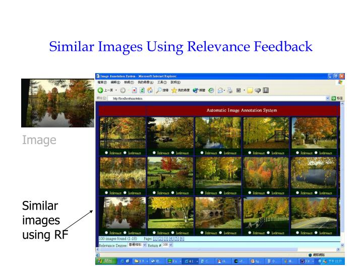 Similar Images Using Relevance Feedback