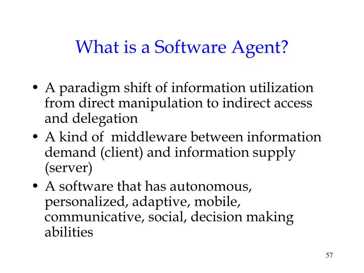 What is a Software Agent?