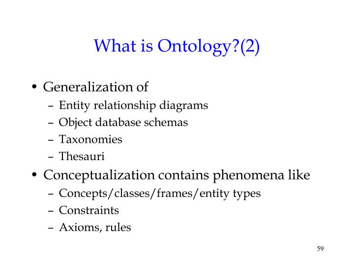 What is Ontology?(2)