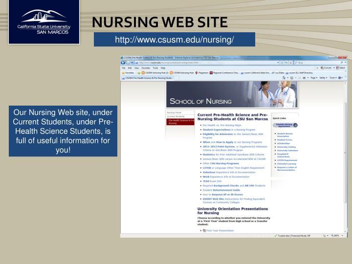 Nursing Web Site