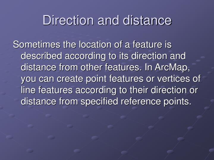 Direction and distance
