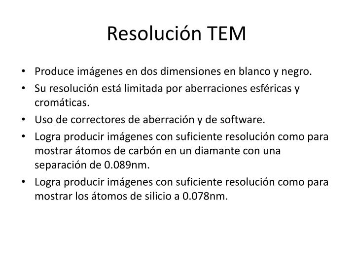 Resolución TEM