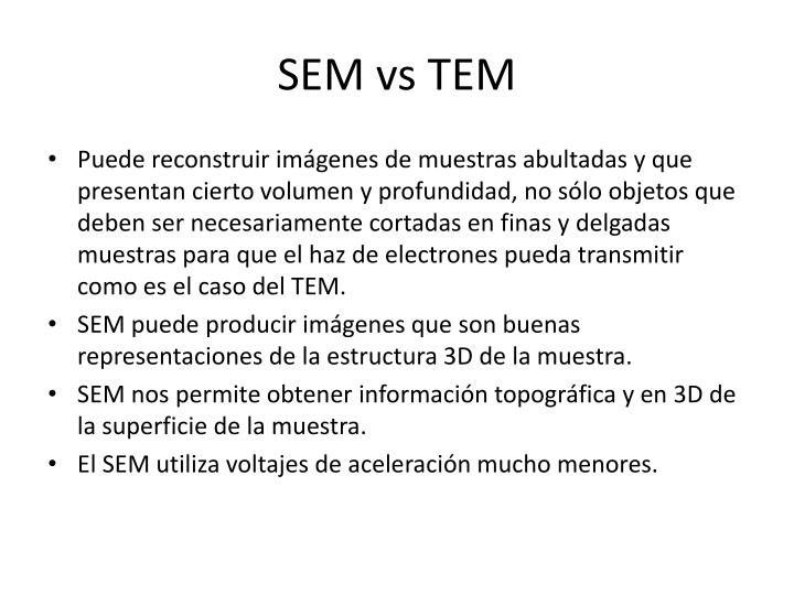 SEM vs TEM