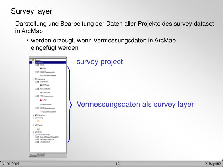 Survey layer
