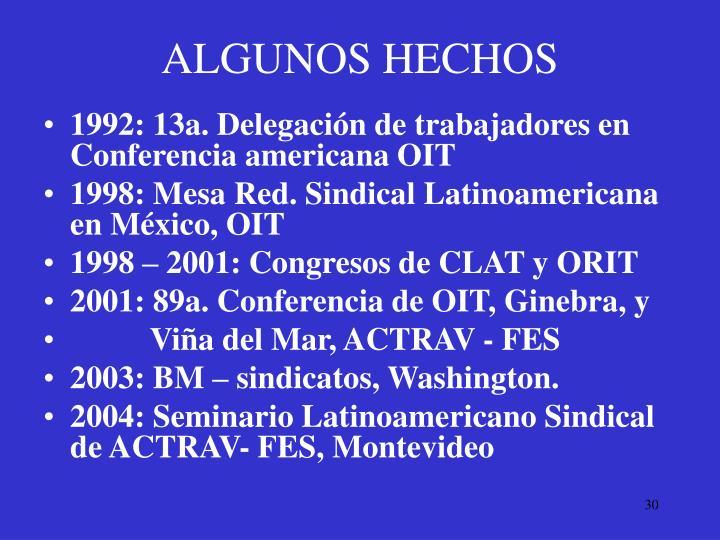 ALGUNOS HECHOS