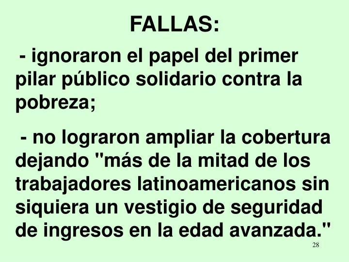 FALLAS: