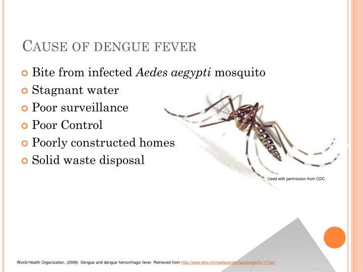 Cause of dengue fever