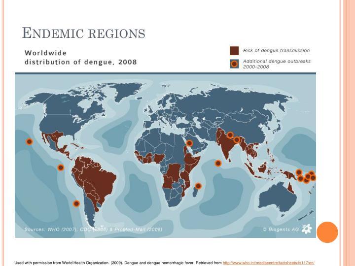 Endemic regions