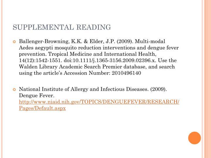 supplemental reading