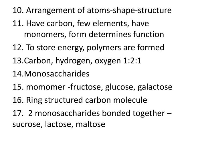 Arrangement of atoms-shape-structure